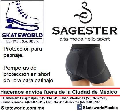 Pomperas de protección para patinaj Sagester